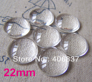 50pcs/lot, de Bună Calitate 22mm Bombat Rotund Transparent Clar Lupă Cabochon