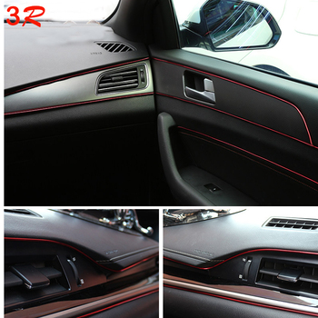 5M Auto Universale Styling Flexibil Interior Decor Interne de Turnare Tăiați Fâșii Decorative Linie DIY Autocolant Auto-Styling