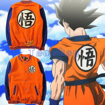 Anime Dragon Ball Z Fiul Gokou Cosplay Unisex Universitate Facultate De Baseball Sacou Cald Casual Strat Uniform Topuri