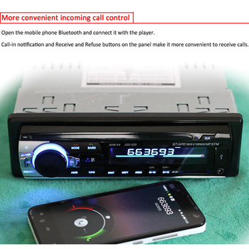CALD 12V Auto Bluetooth Stereo, Radio FM, MP3 Player-ul Audio 5V Incarcator USB SD AUX Electronice Auto Subwoofer In-Dash 1 DIN Autoradio