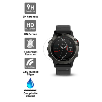 Elecguru de Cristal Clar 9H 2.5 D Tempered Glass Anti-shock remium Ecran Protector Pentru Garmin Fenix 5 (3 pack)