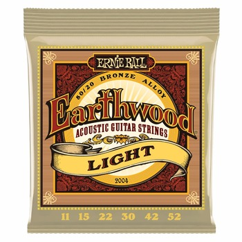 Ernie Ball 2004 Earthwood 80/20 Bronze Light Chitara Acustica, Siruri De Caractere 11-52