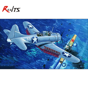 RealTS Trompetist 02244 1/32 SBD-3 Dauntless la jumătatea DISTANȚEI(CLAR EDITION)