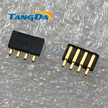 Tangda pogo pin conector 4PIN POGO PIN spacing:2.0 mm 2*6.3 mm partea de sudare conector Transport Gratuit A.