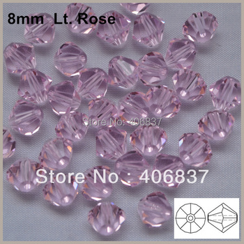 Transport Gratuit! 144pcs/Lot, AAA Chineză de Calitate de Top de 8mm Lumina de Cristal Rose Bicone Margele