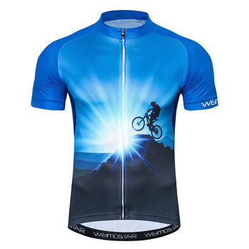 Weimostar Mountain Bike Ciclism Jersey Tricou Maneca Scurta, Haine de Ciclism downhill cu Bicicleta Jersey Haine Maillot Ropa Ciclismo