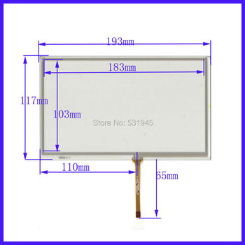 ZhiYuSun ecrane touch de 8 inch 4 linii touch screen 193* 117mm ecran XWT485 STICLĂ 193mm*117mm pe AT080TN64