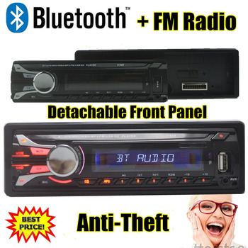 Nou 12V panou detașabil Radio Auto bluetooth MP3 Player auto Audio Suport radio Bluetooth USB/SD/SUNT Portul w/control de la distanță
